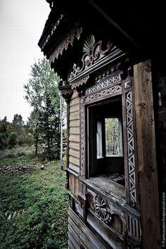 Abandoned Ostashevo village mansion, Chuhlomskoy Kostroma region in Russia
