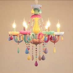 C$ 58.41 20% Off   Modern Colorful Crystal Chandelier Lights Lustre Crystal Chandelier Romantic Crystal Chandelier Modern Bedroom Indoor Light Kids Chandelier, Crystal Chandelier Lighting, Chandelier Bedroom, Candle Chandelier, Pendant Lamp, Pendant Lights, Diy Luminaire, Ceiling Lamp, Decoration