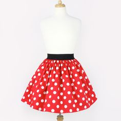 Red and White Polkadots Pleated Skirt ($40) ❤ liked on Polyvore featuring skirts, black, women's clothing, pleated skirt, pinup skirt, cotton skirts, polka dot pleated skirt and cotton stretch skirt