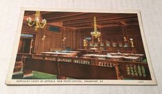 Frankfort Kentucky~New State Capitol~Interior~Court of Appeals Unposted Postcard