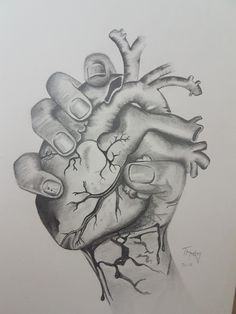 Ripped my heart out pencil sketch Hand holding heart. Ripped my heart out pencil sketch Heart Pencil Drawing, Pencil Sketch Drawing, Heart Hands Drawing, Pencil Art Drawings, Cool Art Drawings, Art Drawings Sketches, Pencil Tattoo, Drawing Tips, Holding Hands Drawing