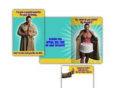 "Hallmark Humor Card • ""BIG CAKE"" on Spring."