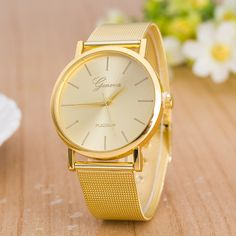 5ef390f3452 Classic Mesh Alloy Strap Fashion Watch