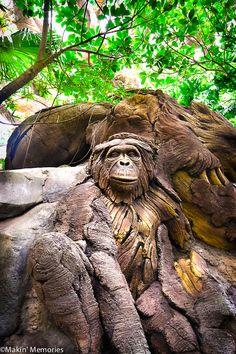 The Tree of Life Chimpanzee - Animal Kingdom - Disney World Tree Faces, Tree Carving, Art Carved, Wood Tree, Tree Sculpture, Wooden Art, Tree Art, Tree Of Life, Techno