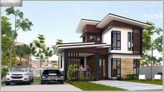 This modern style, half floor home has a unique style. It is distinctive in shape. Stilt House Plans, My House Plans, House On Stilts, Modern Small House Design, Simple House Design, Home Design Floor Plans, Dream Home Design, Kerala Houses, Architecture