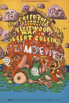 Creedence Clearwater Revival, Fleetwood Mac, Albert Collins - Bill Graham Presents in San Francisco - January 16-19 [1969] - Fillmore West