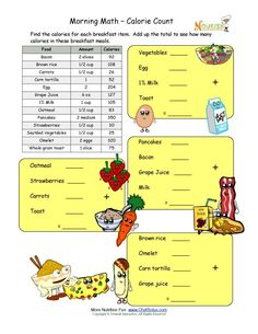 Printables Computation Worksheets school children the ojays and count on pinterest math computation worksheet for elementary using a series of common breakfast meals