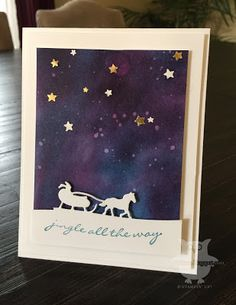 by Dani: Jingle All the Way, Gold Foil Paper, Sleigh Ride Edgelits, Confetti Star punch, & more - all from Stampin' Up!