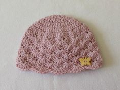 How to crochet a cute baby girl's hat for beginners - YouTube