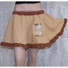 Mlp Dr Whooves Embroidered Applique Brown Circle Skirt Adult All Sizes... ($40) ❤ liked on Polyvore featuring skirts, grey, women's clothing, gray tutu, applique skirt, brown skirt, tutu skirts and circle skirt