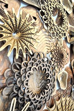 Joshua Abarbanel-See Life reef layered wooden sculpture
