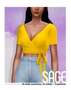 This is an edit of that one top from Island Living made casual. It was hi-key inspired by Margs stunning Virginia top. Be sure to check that out! And as always I hope yall like it! 25 total swatches in Sims 4 Mods, Sims 4 Game Mods, Maxis, Cc Top, Sims4 Clothes, Sims 4 Mm Cc, Vetement Fashion, Sims 4 Cc Finds, Sims 4 Clothing