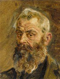 Porträt eines alten bärtigen Mannes by Sigismund Righini