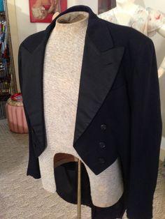 Antique Vtg. 1930's Men's Formal Dress Tailcoat Tuxedo Jacket by OldohioVintage on Etsy