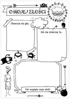 O mojej złości - Printoteka.pl Pre School, Back To School, Polish Language, Class Meetings, Study Skills, Disney Scrapbook, Home Schooling, Motivational Quotes, Homeschool