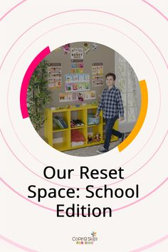 Our Reset Space is a designated safe area where kids can go to reset themselves when they start to experience any feelings they find difficult to manage that distract them from their work. The School Edition is specifically designed for use in a classroom, a counselors office, or a designated calm space in the building. Elementary School Counselor, School Counseling, Elementary Schools, Student Success, Student Learning, Guidance Lessons, Social Emotional Learning, School Resources, Coping Skills