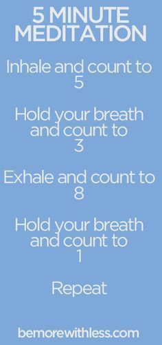 5 minute meditation that I can actually doubly thing that keeps me from passing out before I walk on stage....