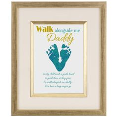 Gift for new dad New baby footprint heart new Daddy by Words2Art, £3.00