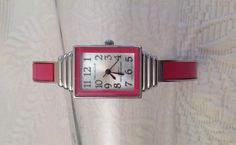 Vellaccio Pink Silver Cuff Bangle Watch by TimelessTimeless