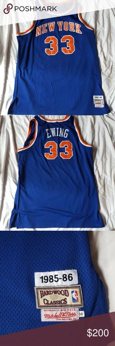 New York Knicks Patrick Ewing Hardwood Classics Patrick Ewing New York Knicks 1985-1986 Hardwood Classics Jersey.  Excellent condition.  Not sure of the size, probably 4XL Hardwood Classics Other
