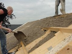 The Australian Hempcrete Technology on roof.