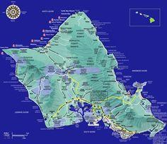 Oahu Hawaii Tourist Map - Oahu Hawaii • mappery