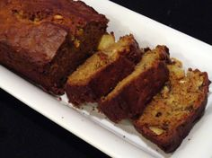 Zucchini Pineapple Walnut Bread~~~ Fresh from the garden, this bread is so delicious and moist that you can eat it all day long! The Zucchini and Pineapple make it super moist!  Serve at breakfast or snack time....or as a lovely hostess gift!