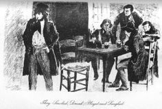 The rebellious students of the ABC Society, hanging out and getting drunk.  My series on re-reading Les Miserables continues.