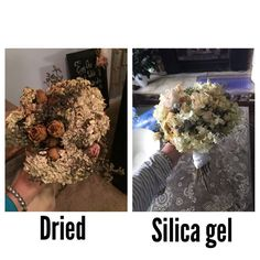 A diy tutorial for preserving your wedding bouquet and styiling in ladies bury your bouquets in silica gel worth the time and money junglespirit Gallery