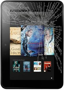 "Check it Out! Kindle Fire HD 7"" Cracked Glass or Damaged Screen Repair Service"