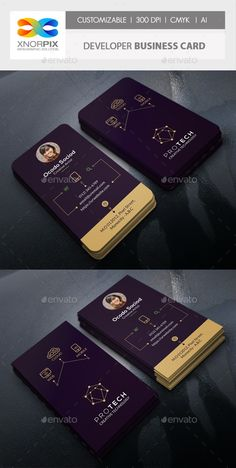 Buy Developer Business Card by -axnorpix on GraphicRiver. Art Business Cards, Letterpress Business Cards, Corporate Identity Design, Corporate Flyer, Professional Business Card Design, Creative Business, Lipsense Business Cards, Ui Design Tutorial, Graphic Design Brochure
