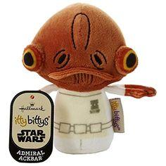 5bba050ff26 Admiral Akbar Star wars Itty Bittys Plush Soft Toy 4.75 Inches