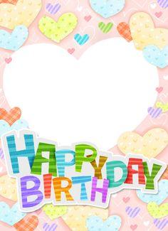 Happy Birthday Posters, Happy Birthday Frame, Birthday Frames, Birthday Board, Frame Border Design, Reward Stickers, Class Decoration, Birthday Design, Handmade Birthday Cards