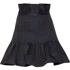 Ellery Kyoto pleated taffeta mini skirt (970 AUD) ❤ liked on Polyvore featuring skirts, mini skirts, bottoms, midnight blue, mini skirt, foldover skirts, origami skirt, short mini skirts and short skirts