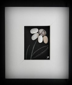 Make Your Own Pebble Art Frame - looks very easy and classy!