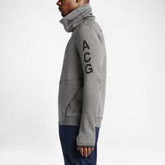 NikeLab ACG Tech Fleece Funnel Men's Sweatshirt. Nike.com