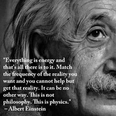 Manifestation of reality in energy.