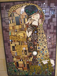 "My Klimt ""The Kiss"" mosaic"
