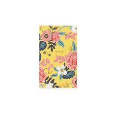 Birch Floral Pocket Notebook (8.11 CAD) ❤ liked on Polyvore featuring home, home decor and stationery