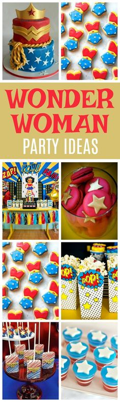 19 Wonder Woman Birthday Party Ideas - Pretty My Party Wonder Woman Birthday, Wonder Woman Party, Birthday Woman, Wonder Woman Cake, Superhero Birthday Party, Birthday Diy, 1st Birthday Parties, Birthday Ideas, Cake Birthday
