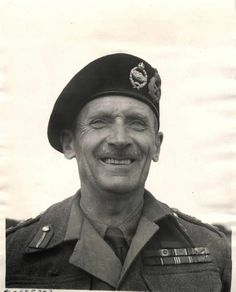 Full-face portrait of General Sir Bernard Montgomery, Commander of British Army. World History, World War Ii, Bernard Montgomery, An Officer And A Gentleman, Man Of War, Important People, Oui Oui, Press Photo, British Army