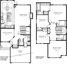 Madison E Model Home floor plan - by Pacesetter Homes, Edmonton Future House, My House, New Home Designs, Model Homes, House Floor Plans, Great Rooms, New Homes, Layout, House Design