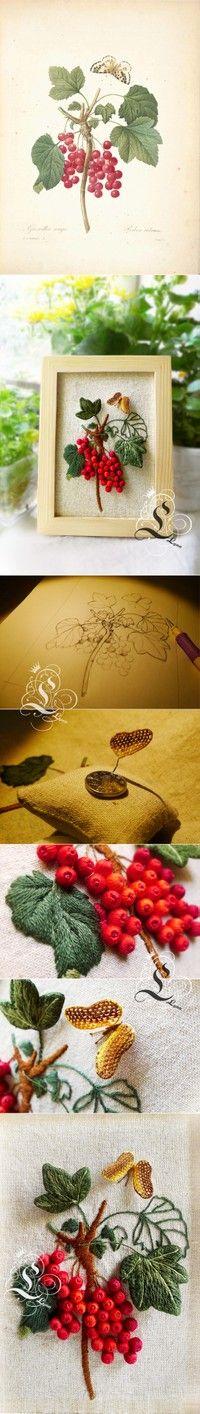 丝带绣-四君子…_来自花布依娃的图片分享-堆糖网