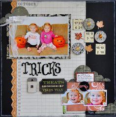 Agenda background, trick or treat layout