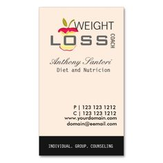 Nutrition coach healthy eating weight loss business card nutrition coach healthy eating weight loss business card pinterest business cards weight loss and business colourmoves