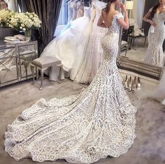 Cheap wedding gowns, Buy Quality lace mermaid wedding directly from China lace mermaid wedding dress Suppliers: 2017 Vintage Lace Mermaid Wedding Dresses Sexy V neck Backless Cap Sleeve Vestido De Noiva 2016 High Quality Wedding Gowns Wedding Dress Train, Custom Wedding Dress, Sexy Wedding Dresses, Bridal Dresses, Wedding Gowns, Lace Wedding, Trendy Wedding, Arabic Wedding Dresses, Bridesmaid Dresses