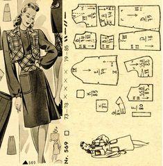 1940s () Dress Wiener Frauenzeitung Nr 5 No 569
