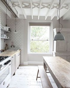 I'm convinced the British know best when it comes to the perfect blend of vintage and industrial. This kitchen in north London is understandably stunning. Image via lightlocations.com #kitchendesign #kitchentrends #kitchenstyle #colortrends #stylistguide #stylist #interiorstyling #homedecor #interiors #stylingideas