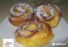 Túrós csigarétes | NOSALTY Hungarian Desserts, Strudel, Cake Cookies, Bagel, Apple Pie, Doughnut, French Toast, Muffin, Cooking Recipes