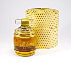 1940 Baccarat, Caron With Pleasure perfume bottle and s